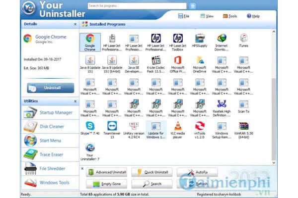 Cách gỡ bỏ phần mềm tận gốc trên máy tính