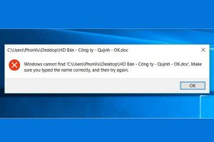 """Cách sửa lỗi """"Windows cannot Find, Make Sure You Typed the Name Correctly"""""""