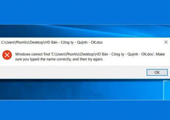 "Cách sửa lỗi ""Windows cannot Find, Make Sure You Typed the Name Correctly"""