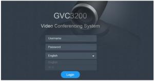 giao diện đăng nhập hội nghị truyền hình