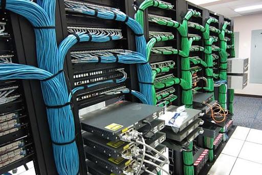 Tủ rack sau khi thi công lại hệ thống mạng